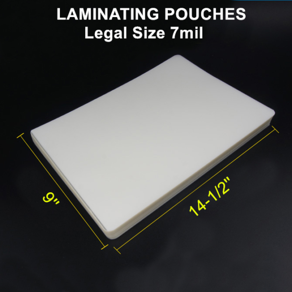 50 LEGAL Laminating Laminator Pouches Sheets 9 x 14-1//2 5 Mil Quality
